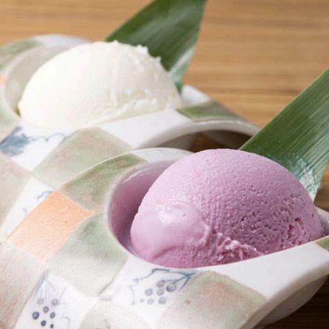 紫芋アイス